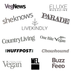 Logos of media where The Hidden Veggies recipe blog and Monica Davis has been featured.