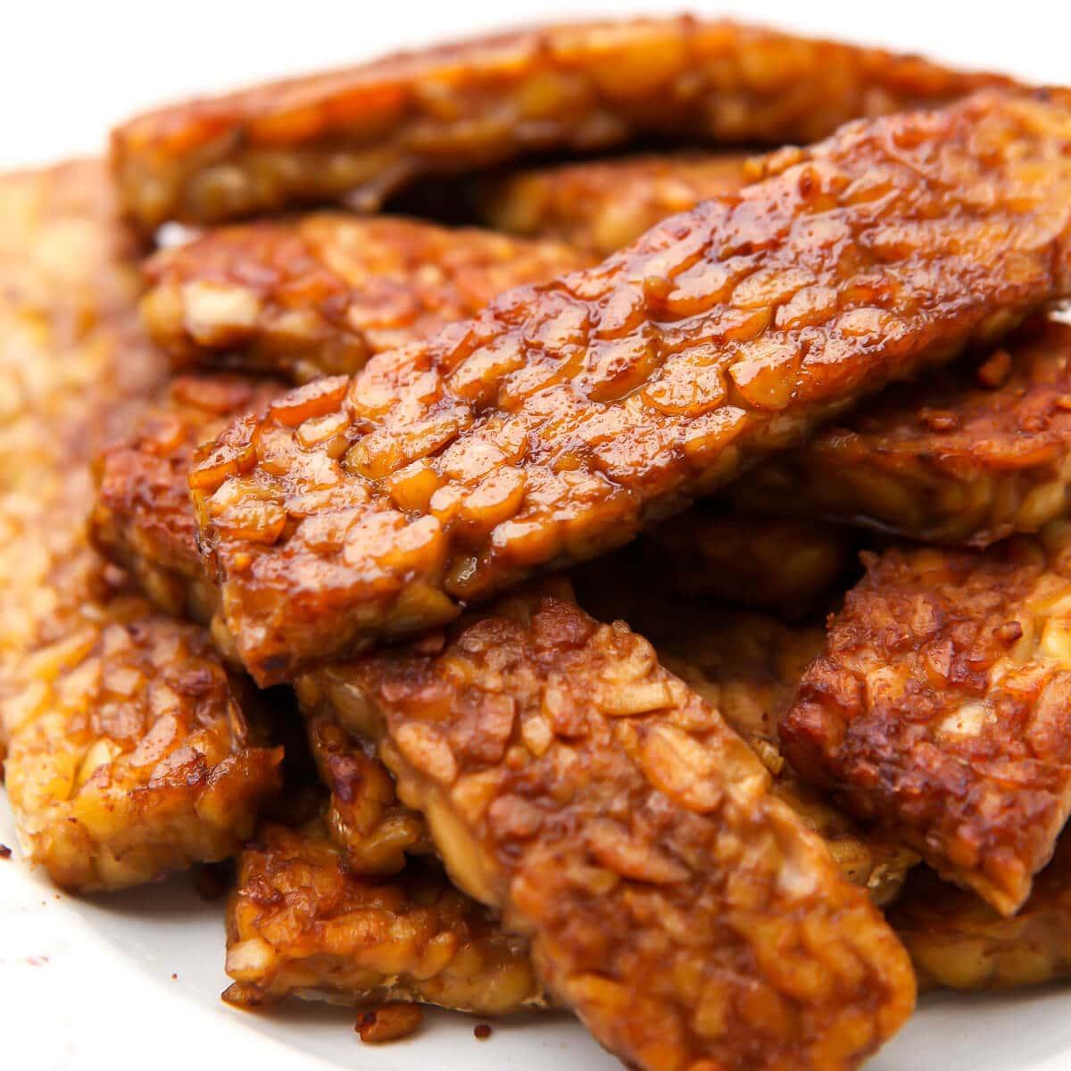 Tempeh Bacon - Vegan Bacon - The Hidden Veggies